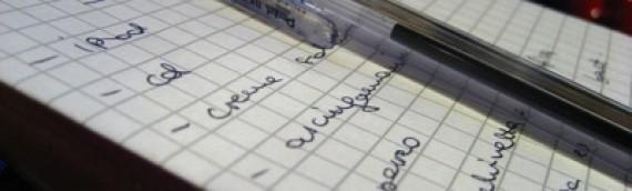 Escribe una Lista con tus Metas (O cuéntala al Mundo)